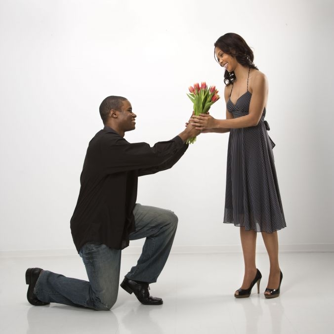 black-couple proposal