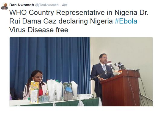 Nigeria Ebola Free